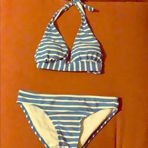 Old Navy Swim - Blue striped bikini
